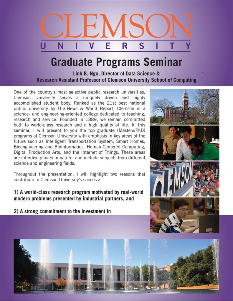 Clemson Graduate Programs Seminar