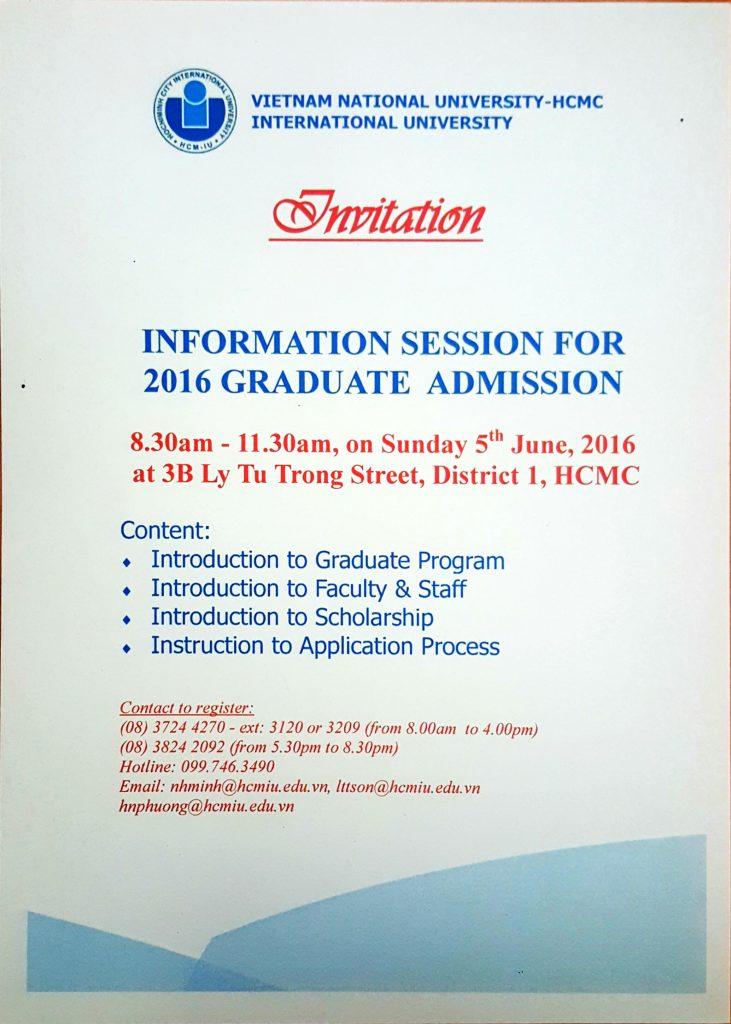 Graduate Admission Info Session En