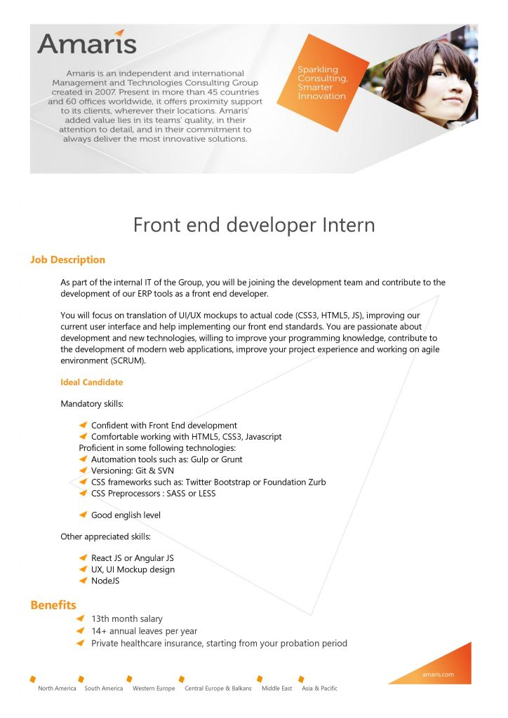 [Amaris] Front end Developer Intern 1
