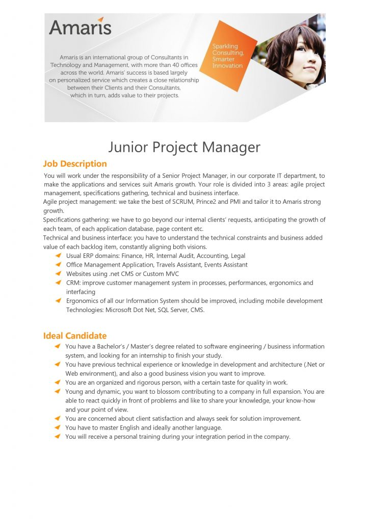[Amaris] Junior Project Manager 1