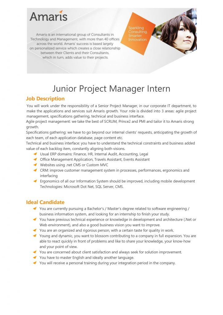 [Amaris] Junior Project Manager Intern 1